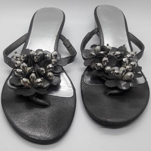 Kenneth Cole Reaction Pewter & Silver Sandals 8M